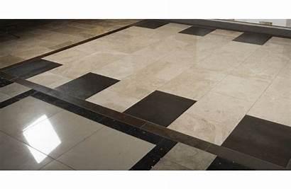Travertine Tile Floor 18x18 Honed Alpaca Noche