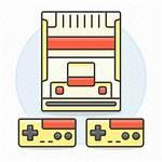 Nintendo Famicom Retro Nes Controller Consoles Icon