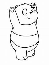 Bare Bears Coloring Panda Beren sketch template
