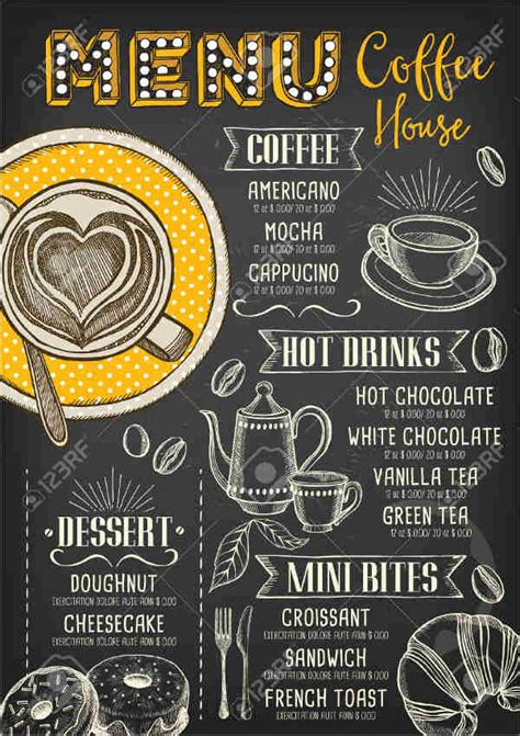 tea party menu templates designs templates
