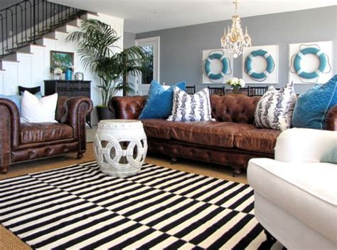 Turquoise Chesterfield Sofa by Nautical Decor Ideas From Ship Wheels To Starfish