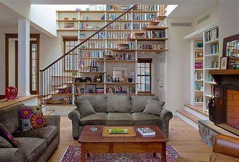 modern home library designs  ladders  stairs