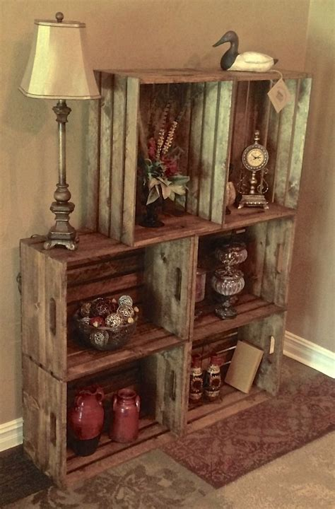 bookshelf pantry ideas  pinterest wood crate