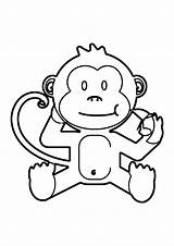 Coloring Monkey Printable sketch template