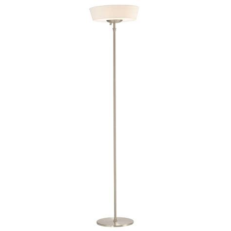 adesso harper 300 watt floor l adesso home harper brushed steel torchiere l with drum