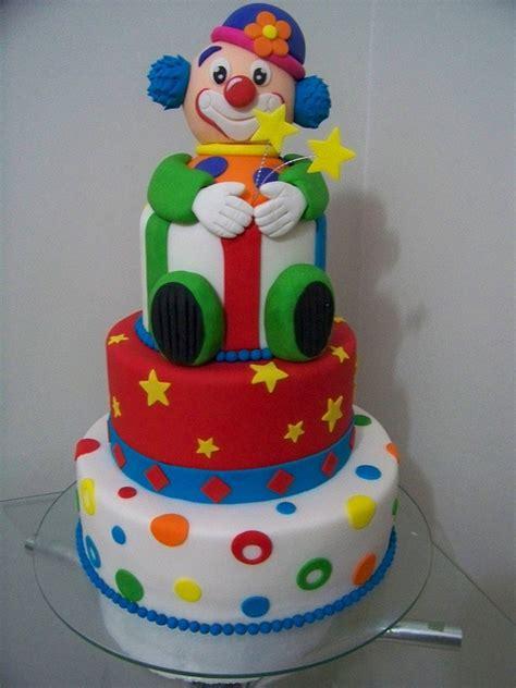 Circus Clown Birthday Cake
