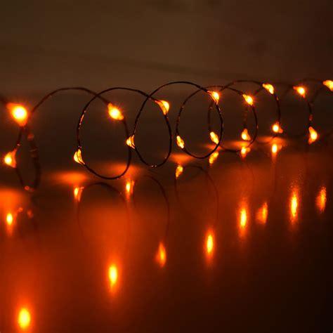 orange led mini battery operated string lights