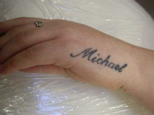 Tattoo On Hand Name