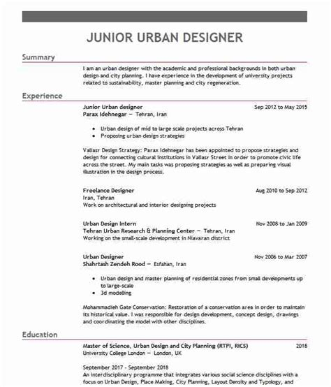 Town Planner Cv by 53 And Regional Planning Cv Exles Architecture