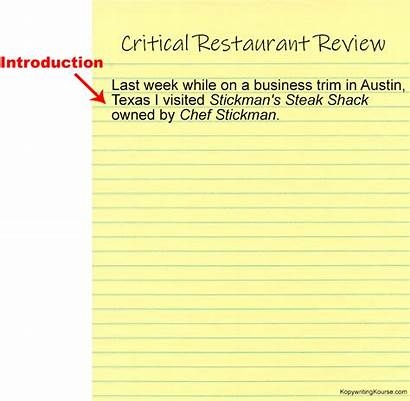 Critical Example Write Restaurant Together