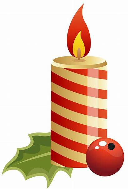 Candle Christmas Clipart Candles Clip Birthday Holiday