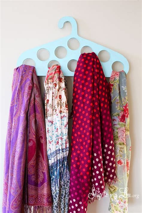 diy scarf hanger skip   lou
