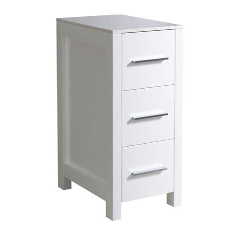 bathroom linen side cabinet fresca torino 12 quot white bathroom linen side cabinet
