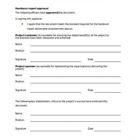 30 handover report templates word pdf google docs