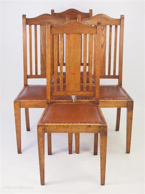Set 4 Vintage Oak Dining Chairs Circa 1920s  Antiques Atlas
