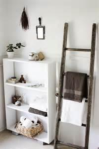 Wood Ladder Towel Racks Bathroom