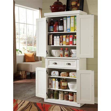 kitchen pantries cabinets home styles nantucket pantry in distressed white 5022 69 2408