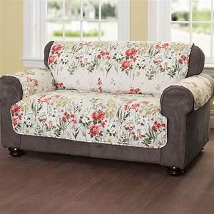 floral meadow quilted furniture protectors living room With sectional furniture protector