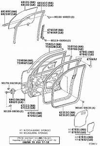 2004 Toyota 4runner Door Check  Left  Front   A Mechanism