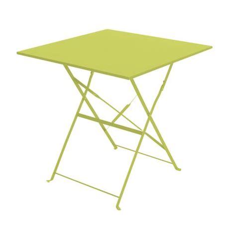 table de jardin pliante camarque 70x70 cm vert achat