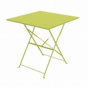 Table De Camping Pas Cher : table de jardin pliante camarque 70x70 cm vert achat ~ Melissatoandfro.com Idées de Décoration