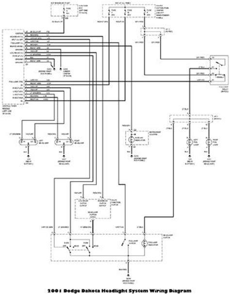 Dodge Dakota Headlight System Wiring Diagram