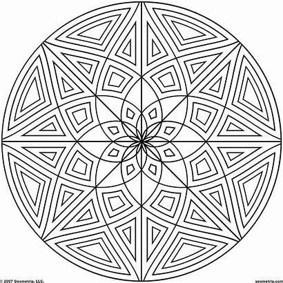 Coloring Pages Designs Geometric Circle Cool Mandala