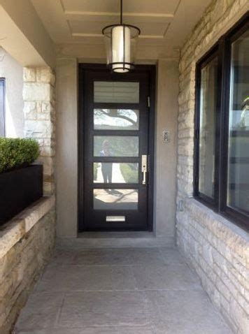 modern entry door  frosted glass  mail slot