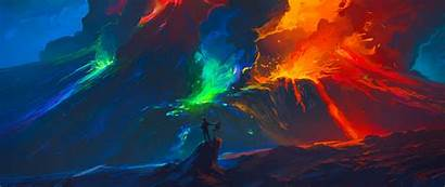 Artist Colorful Fantasy Wallpapers 1080p Waves Background