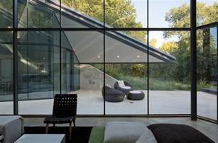 interior partitions for homes paneled glass walls of pit house outdoor interior design ideas