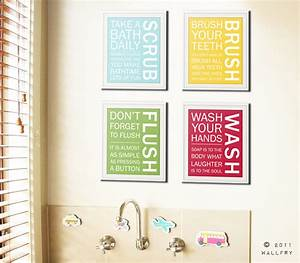 bathroom art prints bathroom rules kids bathroom wall With artwork for bathroom walls