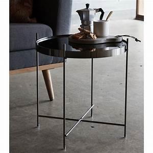 Table Basse Ronde Aluminium : table basse ronde m tal dor miroir hubsch kdesign ~ Teatrodelosmanantiales.com Idées de Décoration