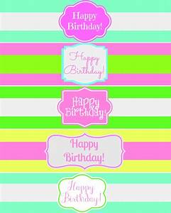 Free printable happy birthday water bottle label wraps for Free printable water bottle labels for birthday