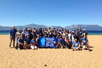 tahoe blue labor day cleanup  nevada beach tahoe