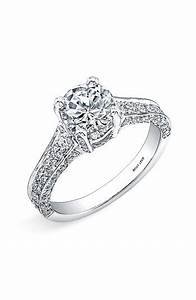 Women39s bony levy pave diamond encrusted engagement ring for Nordstrom wedding rings