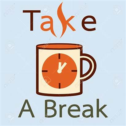 Break Take Coffee Clipart Illustration Vector Cup