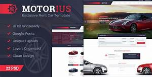 Motorius  Rent Cars Psd Template By