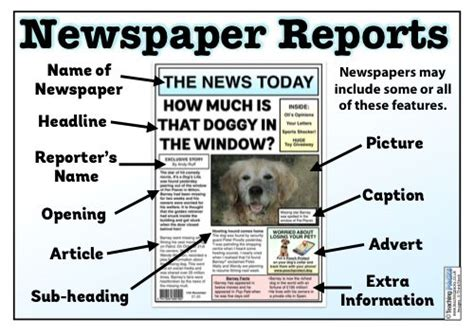 newspaper reports teaching pack  images newspaper report articles  kids report