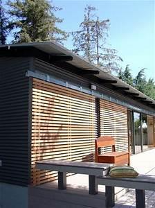 Sliding Wood Slats Can Make Glass Doors More Secure During