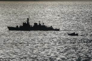 What S Boat In Spanish by Spanish Warship Is Forced Out Of Gibraltar S Water
