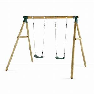 Marmoset Wooden Double Swing Set - Plum Play