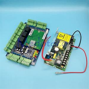 Tcp  Ip Four Door Security Access Controller  12v5a Uninterrupted Battery Function Power Supply