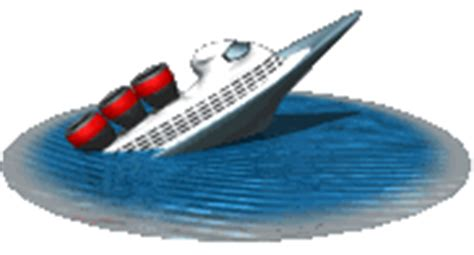 Sinking Boat Gif by Sinking Ship Animated Clipart