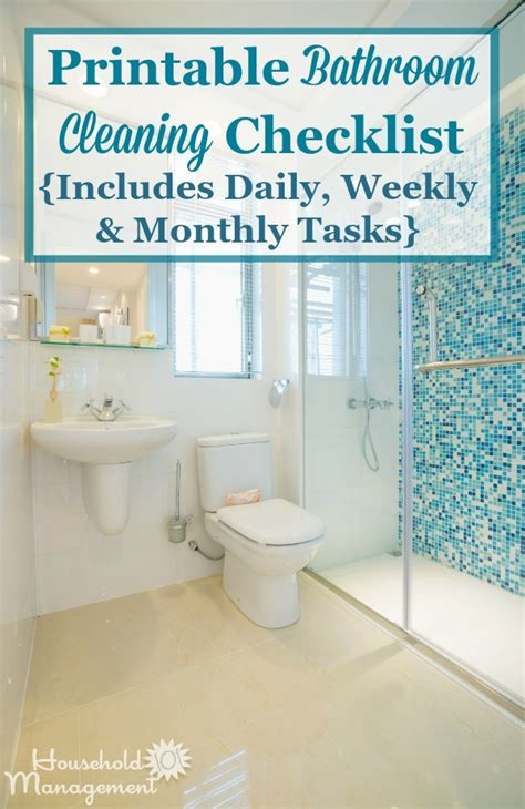 bathroom cleaning checklist list  cleaning
