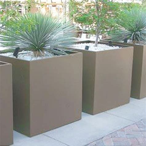 Square Outdoor Planters by Tournesol Square Outdoor Planter Fiberglass