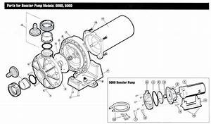 Mypool  Hayward Booster Pumps  Parts Diagram