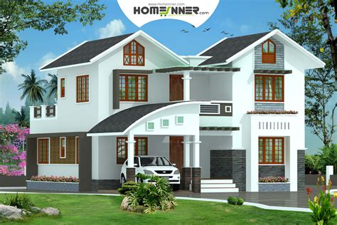kerala style  bhk  sq ft modern home design