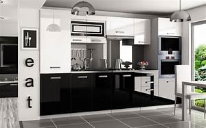 Arbeitsplatte Küche 60 Cm : kaufexpert k chenzeile moderno wei hochglanz schwarz hochglanz 300 cm k che k chenblock ~ Indierocktalk.com Haus und Dekorationen