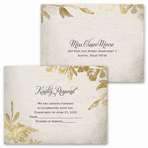 rustic glam invitation with free response postcard ann39s With country glam wedding invitations