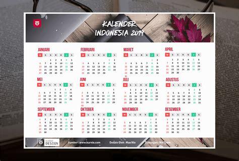Kalender 2019 Vektor Lengkap Tanggal Merah, Hijriyah, Jawa